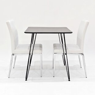 Maguire Dining Set With 2 Chairs By Metro Lane