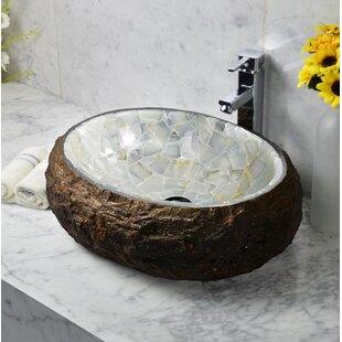 Bargain Mason Stone Oval Vessel Bathroom Sink ByY Decor