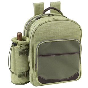 Picnic at Ascot Hamptons Picnic Backpack Cooler with Two Place Settings