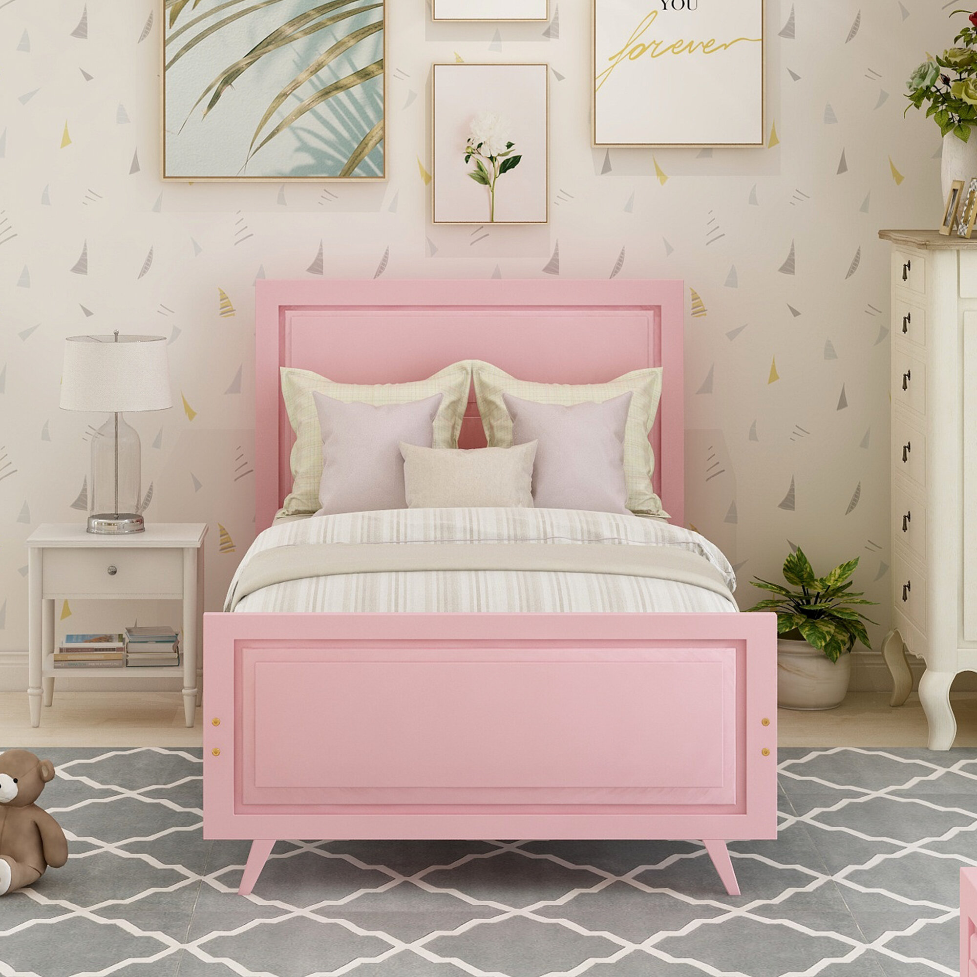 Isabelle Max Auvillar Twin Platform Bed Wayfair
