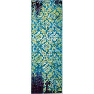 Yareli Blue/Violet Area Rug by Bungalow Rose