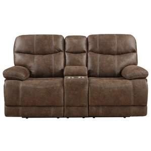 Adkisson Motion Reclining Loveseat with Console by Red Barrel Studio