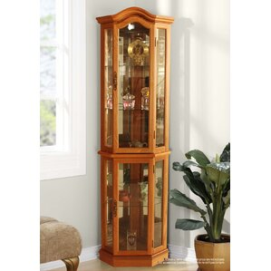 London Lighted Corner Curio Cabinet by Th..