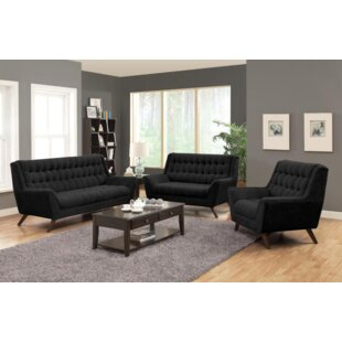 Corrigan Studio Britney 3 Piece Living Room Set