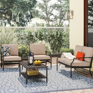 Ellett 4 Piece Sofa Set with Cushion