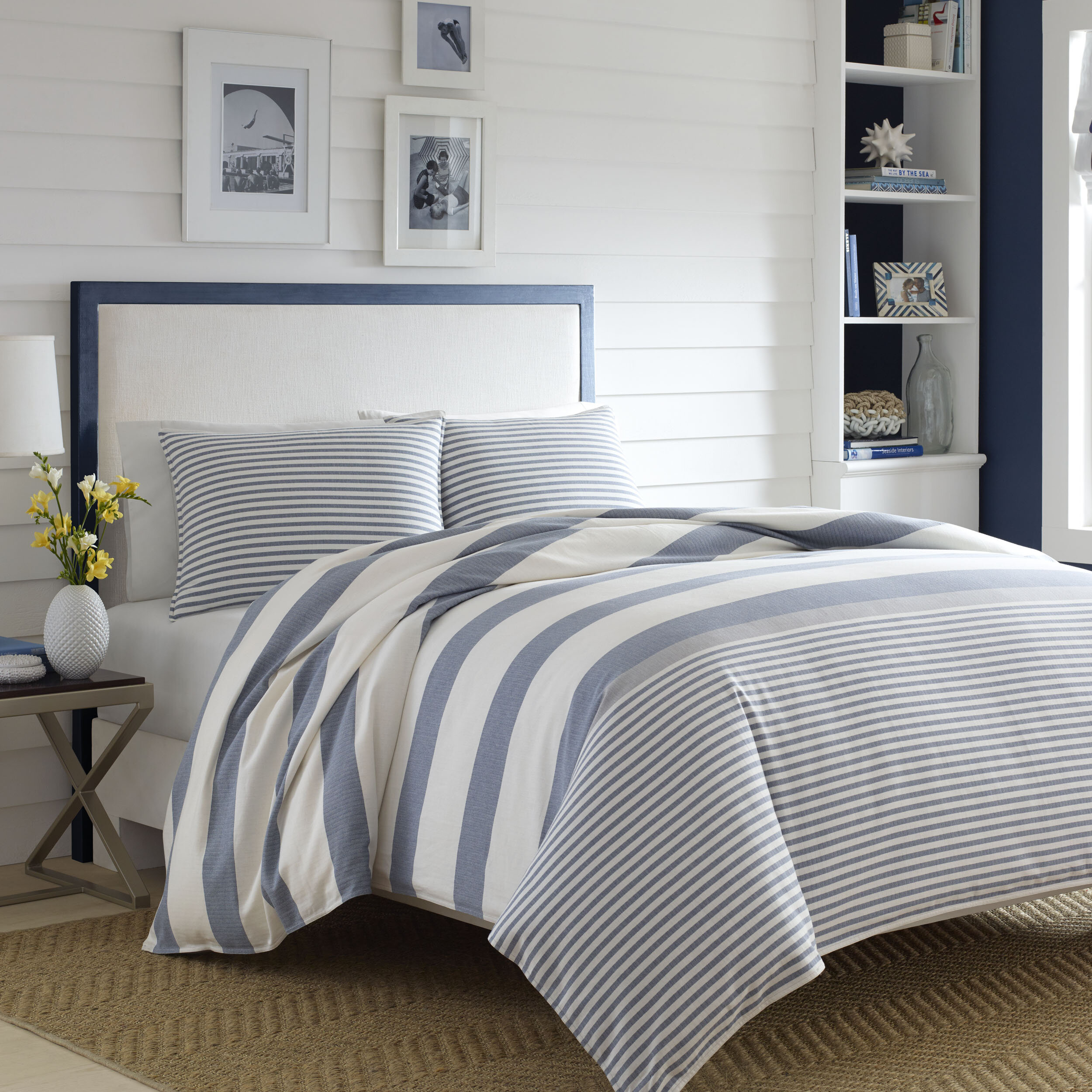 covers stripe and color a soft room slim comforter grey with palette this nautical duvet pin set