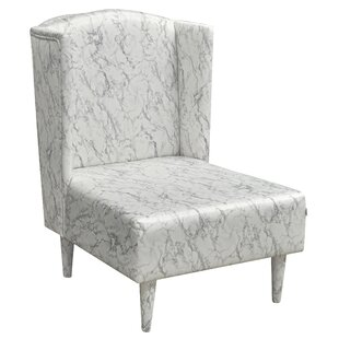 Dandys Marble Wingback Chair By Happy Barok