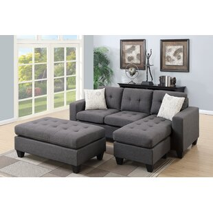 Ellendale Reversible Sectional with Ottoman