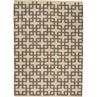 Find the perfect One-of-a-Kind Leach Hand-Woven Dove/Gray Indoor Area Rug By Union Rustic