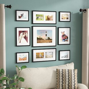 Nice 9 Piece Wood Picture Frame Set