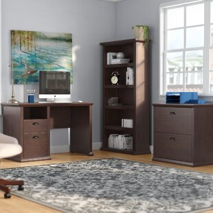 Three Posts Ferrell 3 Piece Desk Office Suite