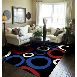 Yablonski Black Indoor/Outdoor Area Rug