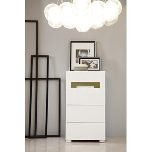Wade Logan Leraine 4 Drawer Chest with Light