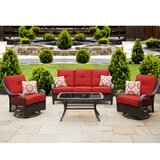 Innsbrook 4 Piece Sofa Seating Group with Cushions by Alcott Hill®