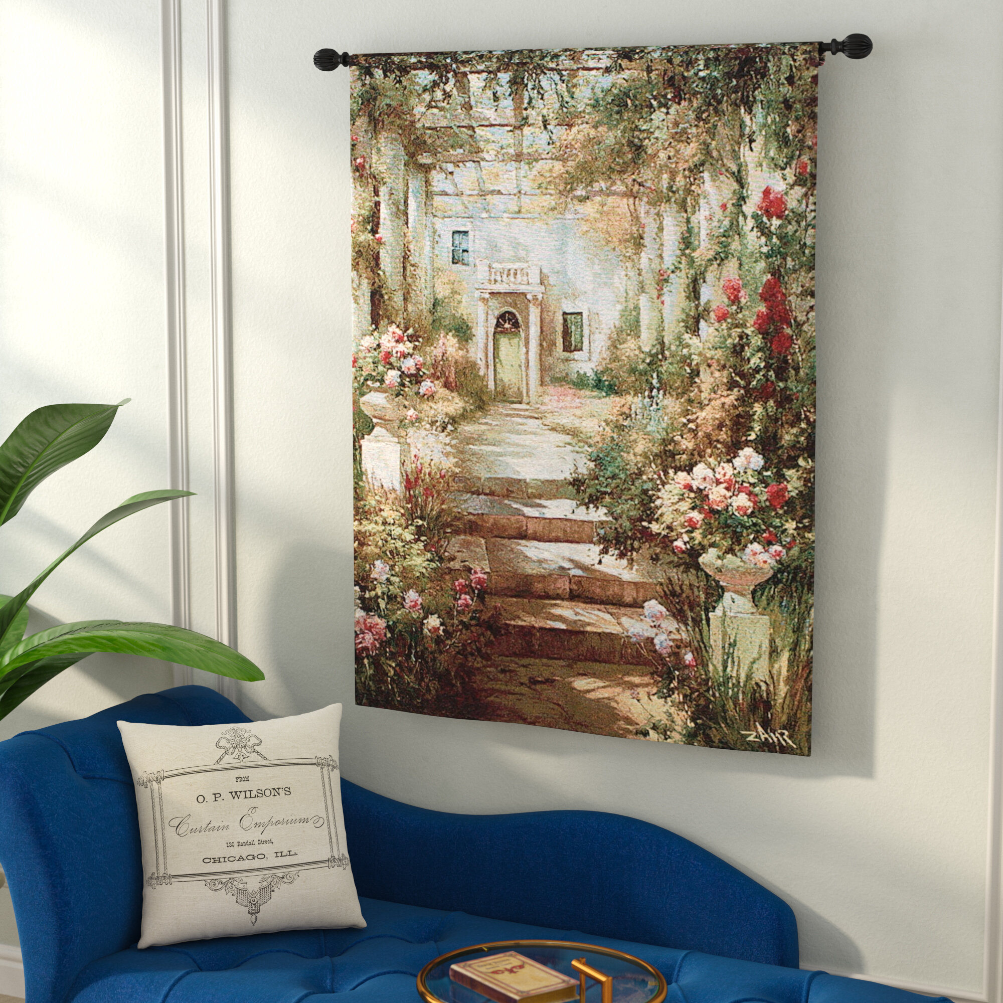 """Leaves and Flowers Tapestry Wall Hanging Living Room Bedroom Dorm 38/"""" MA"""