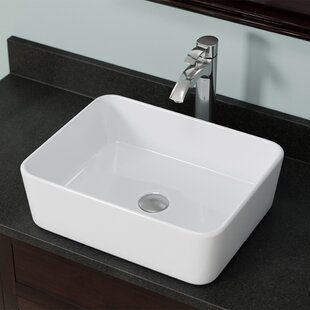 Price Check Vitreous China Rectangular Vessel Bathroom Sink By MR Direct
