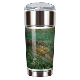 Mark Susinno's Red Drum 24 Oz. Stainless Steel Travel Tumbler by Great American Products Sale
