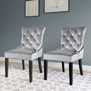 Lindsey Wood Frame Side Chair (Set of 2) Willa Arlo Interiors