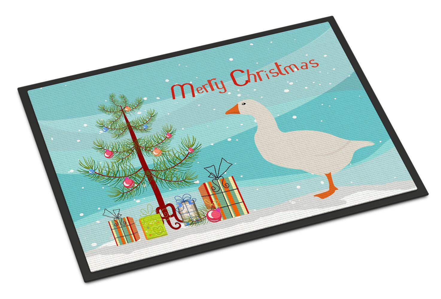 The Holiday Aisle Sonia Shire Horse Christmas Non Slip Outdoor Door Mat Wayfair