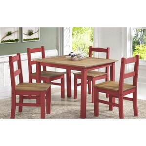 Rodgers Solid Wood 5 Piece Dining Set by Gracie Oaks