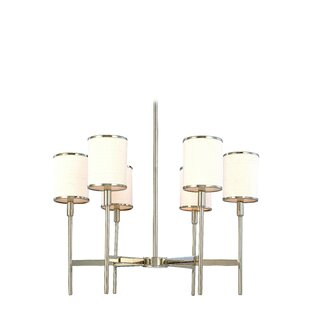 Latitude Run Clarise 6-Light Shaded Chandelier