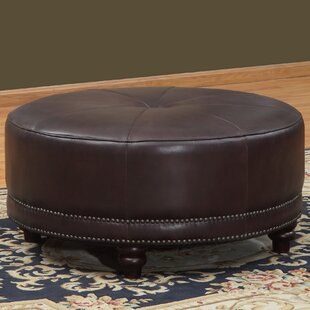 Cindy Leather Pouf