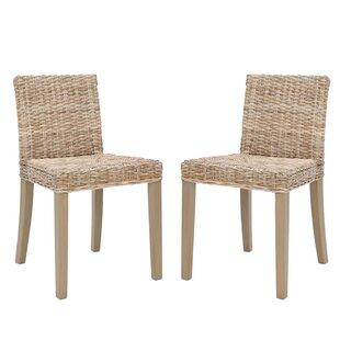Bay Isle Home Buddy Wicker Side Chair (Set of 2)