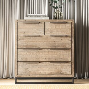 Top Reviews Glenda 5 Drawer Dresser by Greyleigh