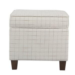 Carrol Windowpane Square Lift Off Storage Ottoman by George Oliver