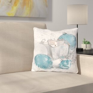 Festive Ornaments Throw Pillow