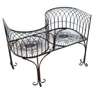 Design Toscano Tete a Tete Kissing Metal Garden Bench