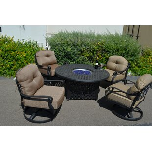 Nola 5 Piece Conversation Set with Cushions