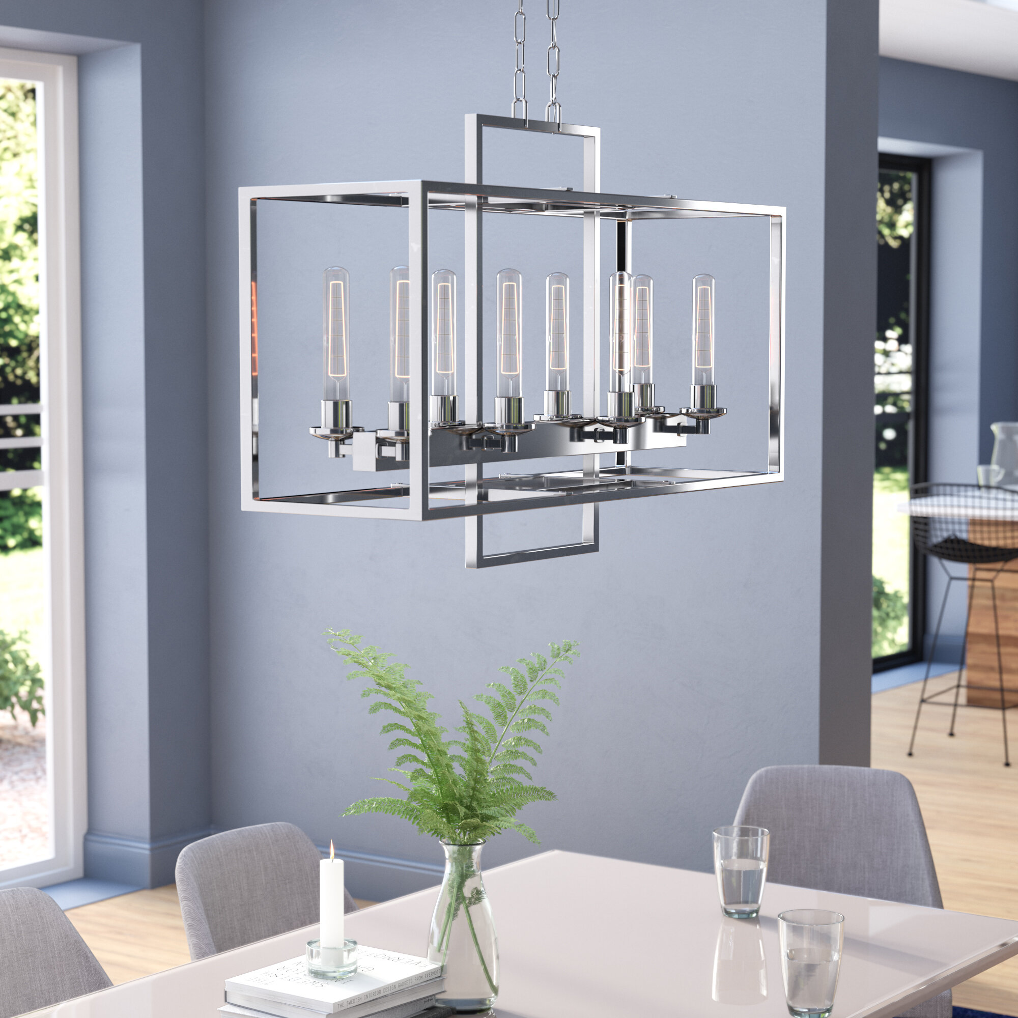 wade logan gretna 8-light kitchen island chandelier & reviews | wayfair