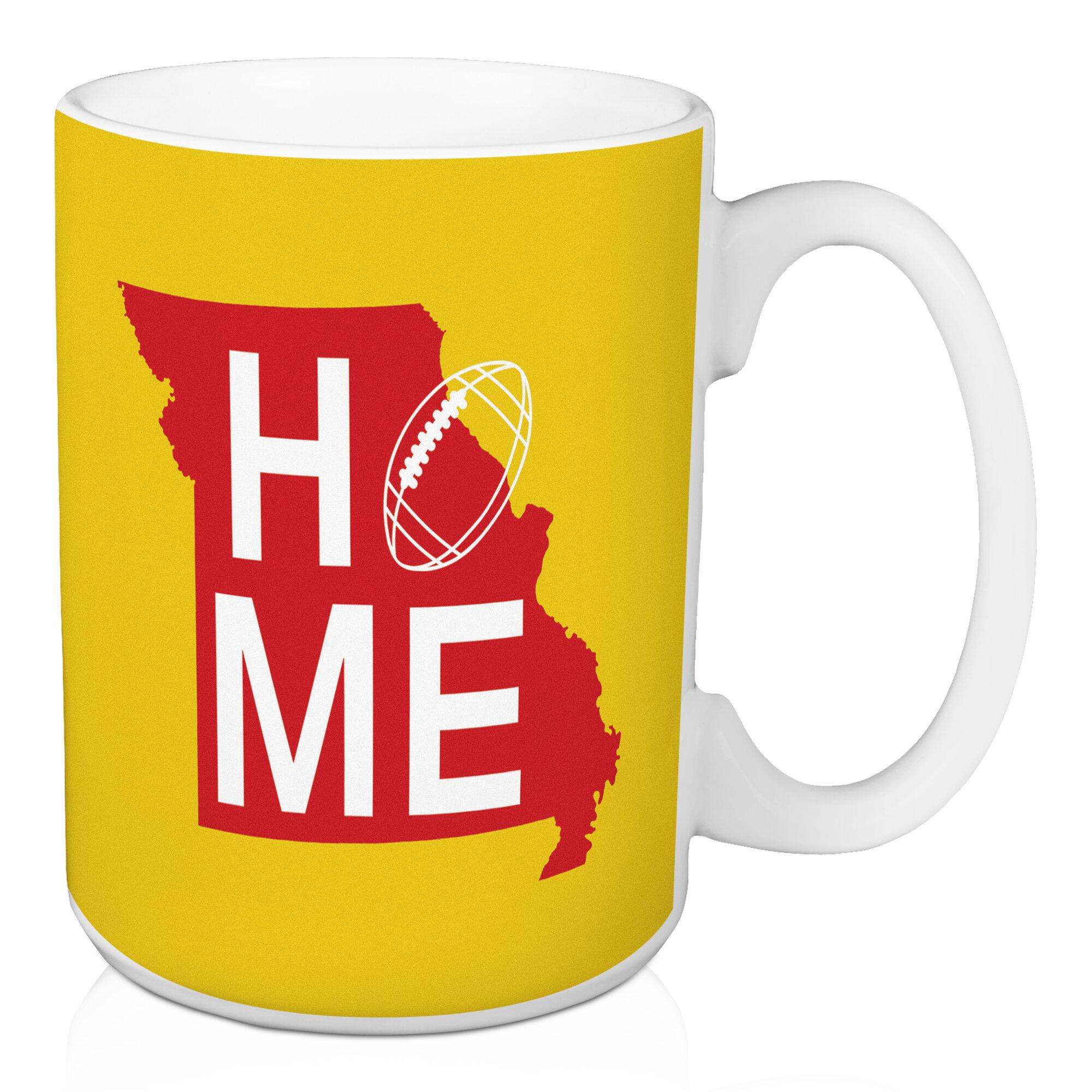 Ebern Designs Fondren Kansas City Home Football Coffee Mug | Wayfair
