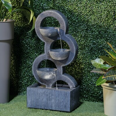 Image of Resin Forgiveness Fountain with Light Alfresco Home