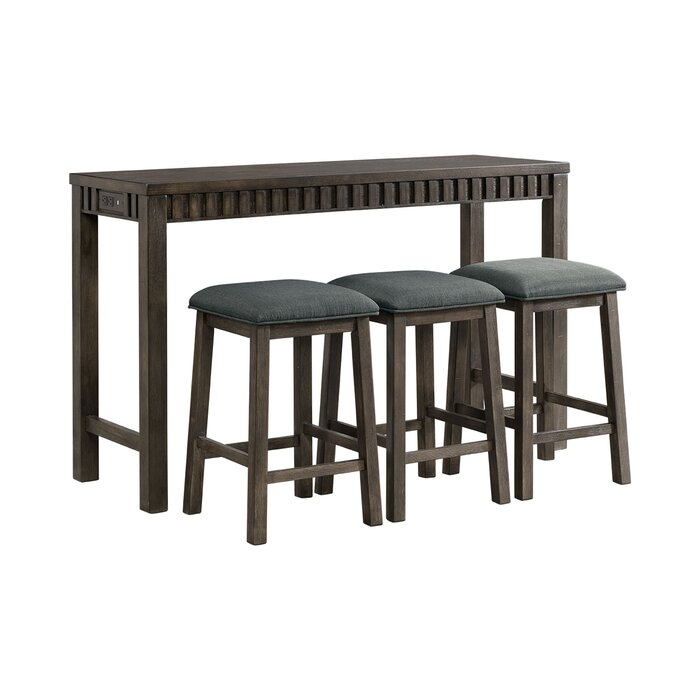 Admirable Panola 4 Piece Pub Table Set Interior Design Ideas Greaswefileorg