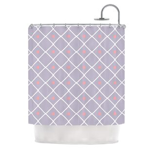 Lilac Web Single Shower Curtain