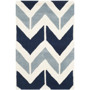 Savings Wilkin Dark Blue / Light Blue Area Rug By Wrought Studio