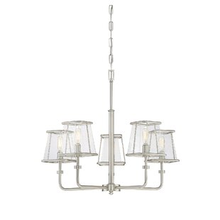 Brayden Studio Metinaro 5-Light Shaded Chandelier