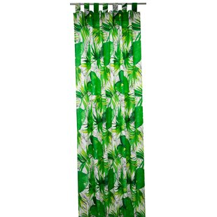 T Jungle Tab Top Blackout Single Curtain