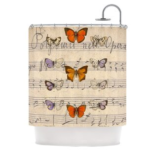 Butterfly Opera Polyester Single Shower Curtain
