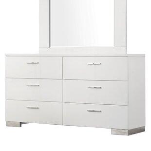. Modern   Contemporary White High Gloss Dresser   AllModern