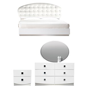 Rachna Upholstered Platform Configurable Bedroom Set