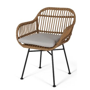Mccune Indoor Woven Faux Rattan Papasan Chair (Set of 2)