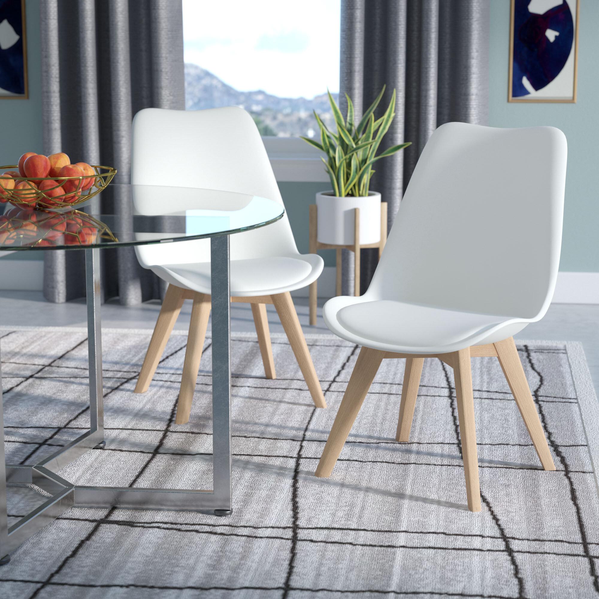 Wade Logan Dakota Upholstered Dining Chair Reviews