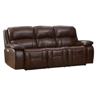 Best Deals Westminster II Leather Reclining Sofa by HYDELINE Reviews (2019) & Buyer's Guide