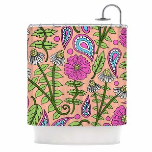 Floral Paisley Single Shower Curtain
