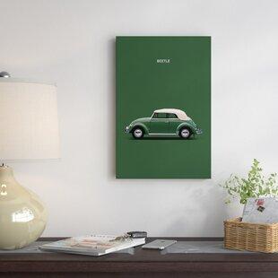 '1953 Volkswagen Beetle' Graphic Art Print on Canvas ByEast Urban Home