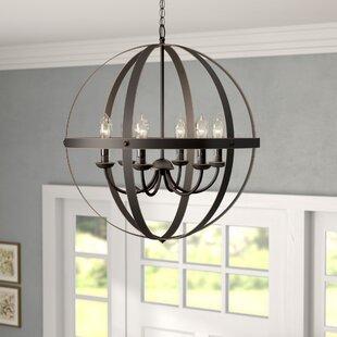 Gracie Oaks Genna 6-Light Globe Chandelier