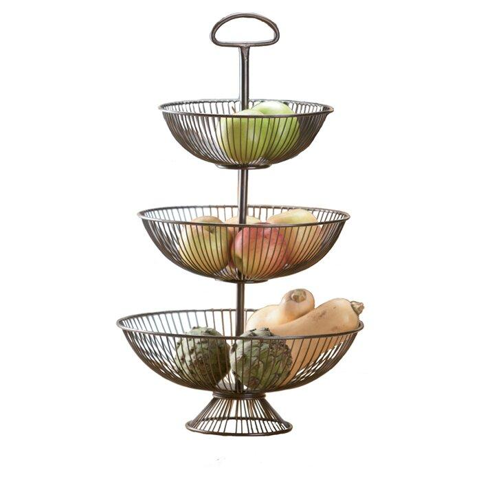 Mistana Walker Three-Tier Decorative Wire Basket Stand & Reviews ...